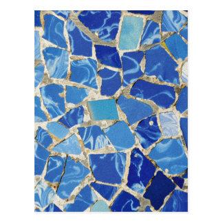 Mosaicos de Gaudi con un tacto del aceite Postal