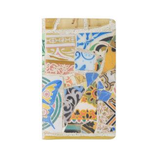 Mosaicos de Guell del parque Funda Para Libreta Y Libreta Grande Moleskine