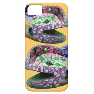 Mosaicos de la cabeza del lagarto de Gaudi Funda Para iPhone SE/5/5s