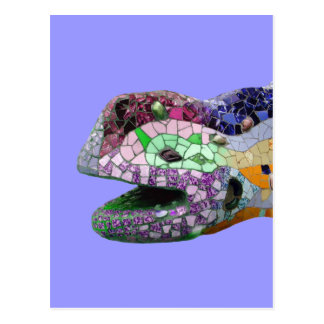 Mosaicos de la cabeza del lagarto de Gaudi Postal