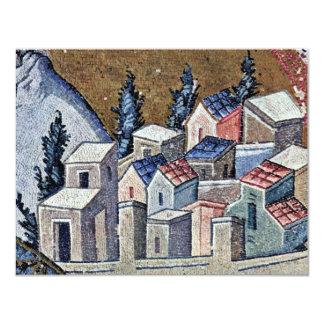 Mosaicos de la escena de Kahri-Djami de la iglesia Invitación 10,8 X 13,9 Cm