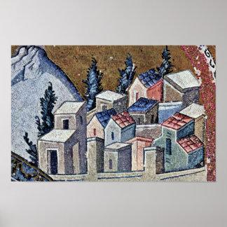 Mosaicos de la escena de Kahri-Djami de la iglesia Posters