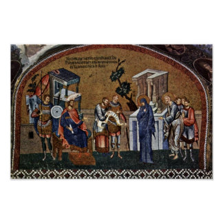 Mosaicos de la escena de Kahri-Djami de la iglesia Poster