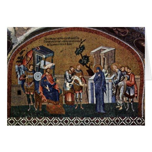 Mosaicos de la escena de Kahri-Djami de la iglesia Tarjetas