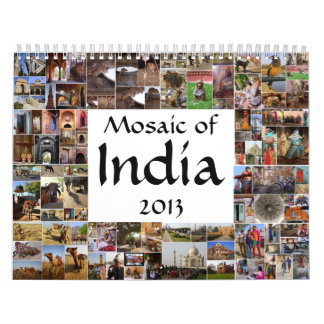 Mosaicos de la India Calendario De Pared