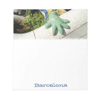 Mosaicos de la mano del lagarto de Barcelona Blocs De Notas
