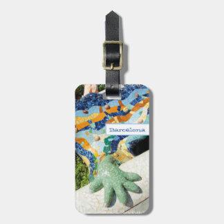 Mosaicos de la mano del lagarto de Barcelona Etiquetas Bolsa