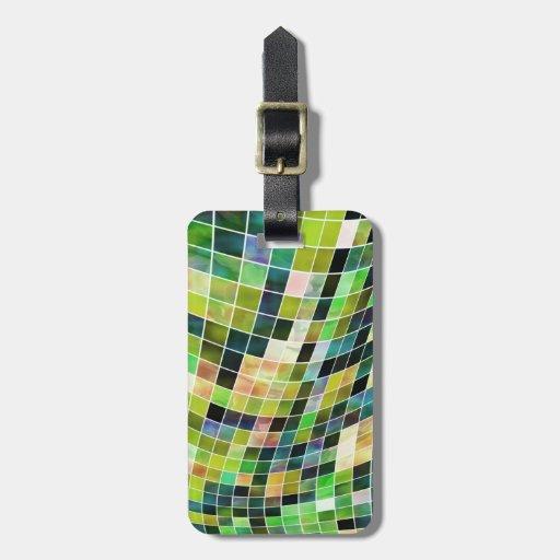 Mosaicos de la perla etiquetas de equipaje