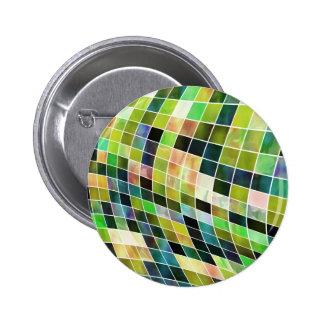 Mosaicos de la perla pin redondo 5 cm