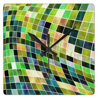 Mosaicos de la perla relojes de pared