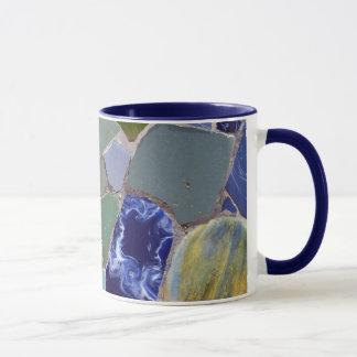 Mosaicos del azul de Antonio Gaudi