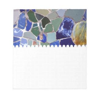 Mosaicos del azul de Antonio Gaudi Bloc De Notas