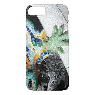 Mosaicos del azul de Antonio Gaudi Funda iPhone 7