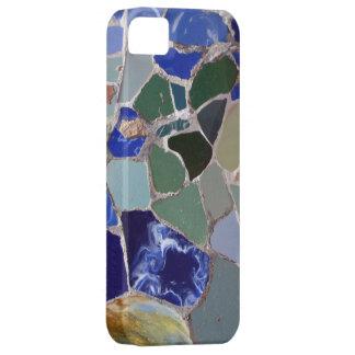 Mosaicos del azul de Antonio Gaudi Funda Para iPhone SE/5/5s