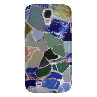 Mosaicos del azul de Antonio Gaudi Funda Samsung S4