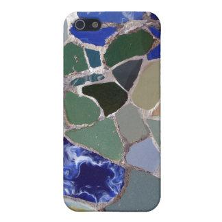 Mosaicos del azul de Antonio Gaudi iPhone 5 Carcasas