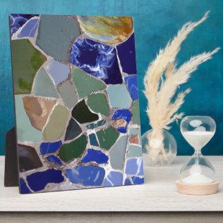Mosaicos del azul de Antonio Gaudi Placa