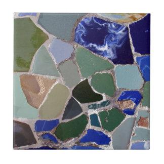 Mosaicos del azul de Gaudi Teja Cerámica