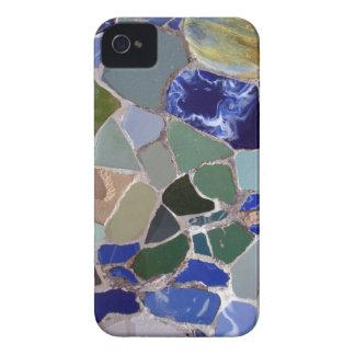 Mosaicos del azul de Gaudi iPhone 4 Carcasa