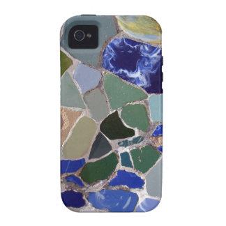 Mosaicos del azul de Gaudi iPhone 4/4S Carcasas