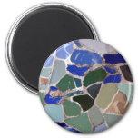 Mosaicos del azul de Gaudi Imán Para Frigorifico