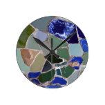 Mosaicos del azul de Gaudi Relojes