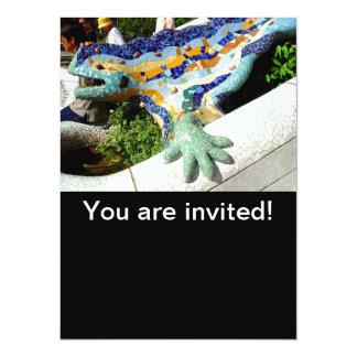 """Mosaicos del lagarto de Gaudi Invitación 5.5"""" X 7.5"""""""