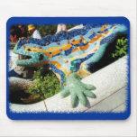 Mosaicos del lagarto de Gaudi Tapete De Ratón