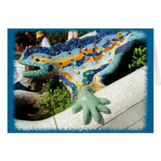 Mosaicos del lagarto de Gaudi Tarjeta De Felicitación