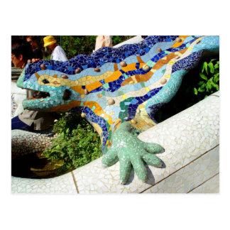 Mosaicos del lagarto de Gaudi Postal