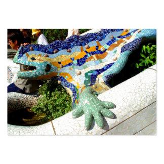 Mosaicos del lagarto de Gaudi Tarjetas De Visita Grandes