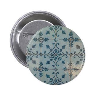 Mosaicos del vintage de Portugal Pin Redondo De 2 Pulgadas