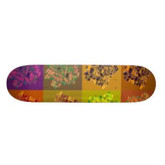 mosaicos en cuadrados del color skate board