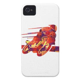 Mosaicos rojos del polígono de la silueta de la Case-Mate iPhone 4 carcasas