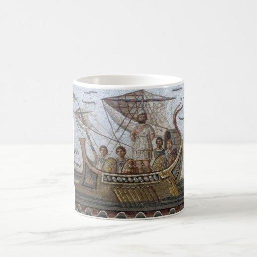 Mosaicos romanos tazas