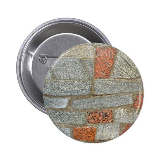 Mosaics made of large stone blocks of marble 2 inch round button