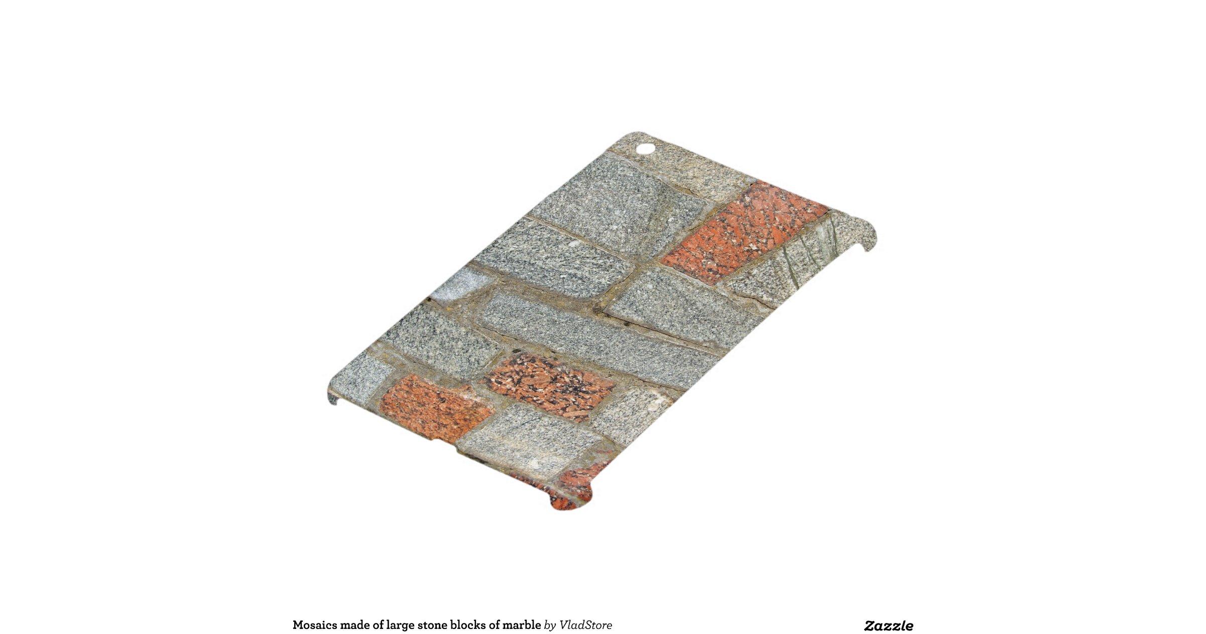 Large Stone Blocks : Mosaics made of large stone blocks marble ipad mini