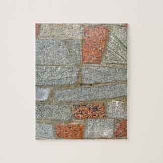 Mosaics made of large stone blocks of marble jigsaw puzzles