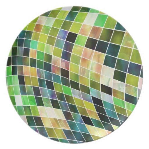 Mosaics Of Pearl Plate