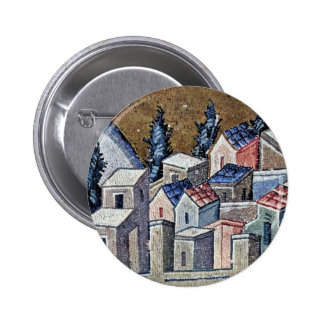 Mosaics Of The Church Kahri-Djami Scene In Istanbu Pinback Buttons