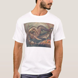 Mosasaur and Ichthyosaurs (Heinrich Harder) T-Shirt
