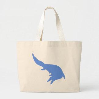 Mosasaurs Giganteus Silhouette (Blue) Jumbo Tote Bag
