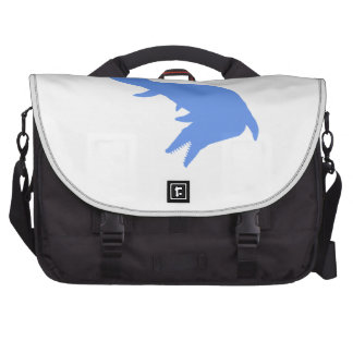 Mosasaurs Giganteus Silhouette (Blue) Laptop Bags