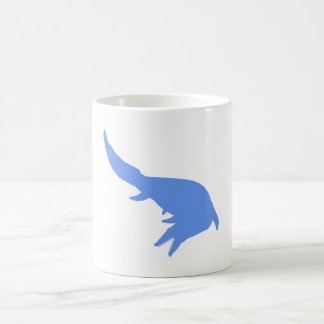 Mosasaurs Giganteus Silhouette (Blue) Classic White Coffee Mug