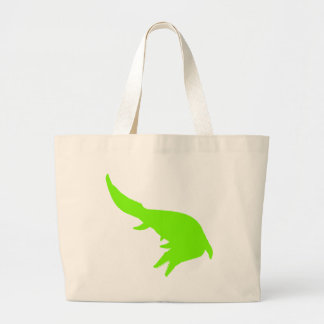 Mosasaurs Giganteus Silhouette (Green) Jumbo Tote Bag