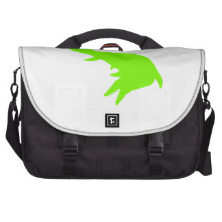 Mosasaurs Giganteus Silhouette (Green) Laptop Messenger Bag