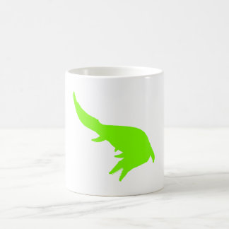 Mosasaurs Giganteus Silhouette (Green) Classic White Coffee Mug