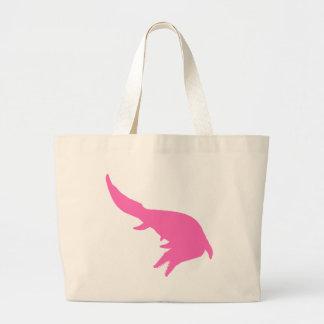 Mosasaurs Giganteus Silhouette (Pink) Jumbo Tote Bag