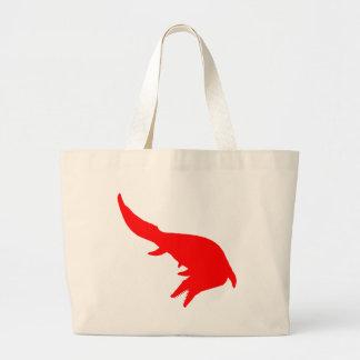 Mosasaurs Giganteus Silhouette (Red) Jumbo Tote Bag