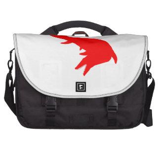 Mosasaurs Giganteus Silhouette (Red) Laptop Messenger Bag